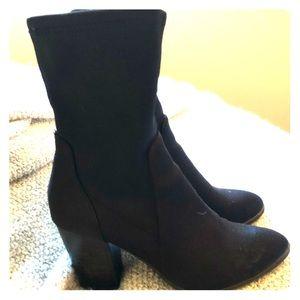 Stacked Heel Sock boots
